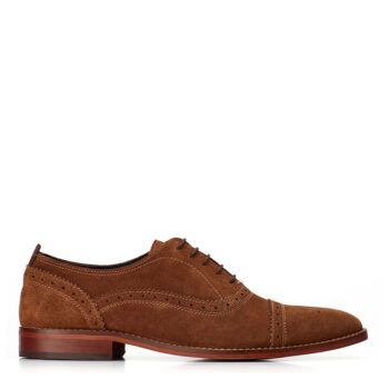 BASE LONDON CAST SUEDE COGNAC